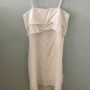 Zara natural summer mini dress